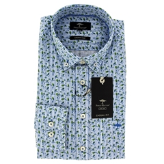 New 2021 Fynch Hatton Superior Print Cotton Shirt - Cactus Leafs