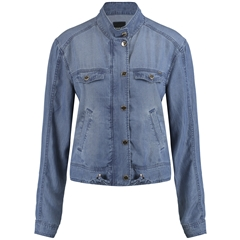 Taifun Soft Denim Utility Style Jacket - Blue