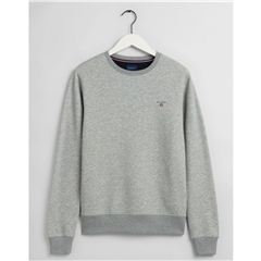 New 2021 Gant Original Crew Neck Sweatshirt - Grey