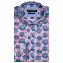 New 2021 Giordano Colourful Circle Print Shirt - Red