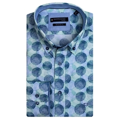 New 2021 Giordano Colourful Circle Print Shirt - Green