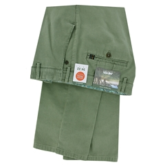 New 2021 Meyer  Soft Cotton Canvas Trouser - Olive - Oslo 3132 27