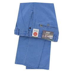 New 2021 Meyer  Soft Cotton Canvas Trouser - Mid Blue - Oslo 3132 17