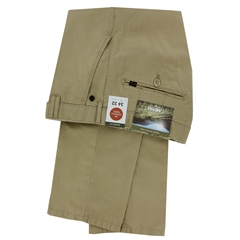 New 2021 Meyer Cotton and Linen Trouser - Beige - Rio 3131 42