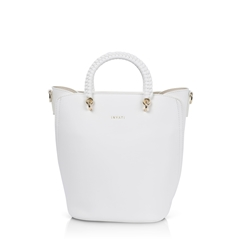 Inyati Tonia Top Handle Bucket Bag -White