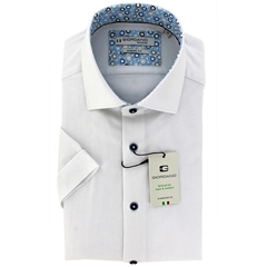 New 2021 Giordano Short Sleeve Plain Dobby Shirt - White