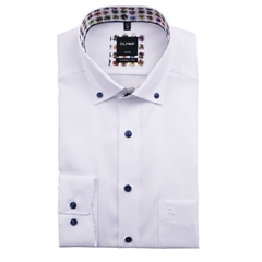New 2021 Olymp Luxor Modern Fit Shirt - White