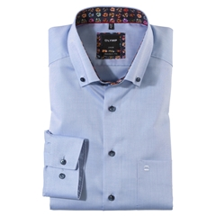New 2021 Olymp Luxor Modern Fit Shirt - Sky Blue