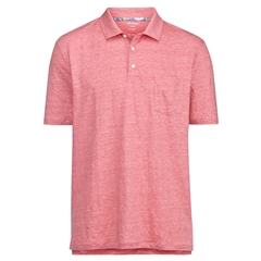 New 2021 Olymp Casual Modern Fit Linen Elastane Polo Shirt - Pink