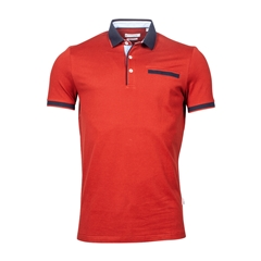 New 2021 Giordano Modern Fit Polo Shirt -  Red