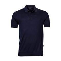 New 2021 Giordano Knitted Polo Shirt - Dark Navy