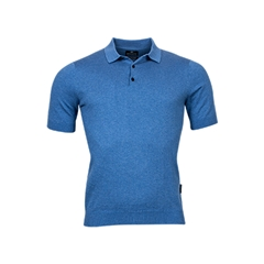 New 2021 Giordano Knitted Polo Shirt - Light Blue