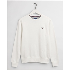 New 2021 Gant Original Crew Neck Sweatshirt - Eggshell