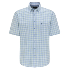 New 2021 Fynch Hatton  Supersoft Cotton Short Sleeve Shirt - Small Cactus Check