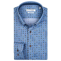 Giordano Modern Fit Shirt - Light Blue Neat Design