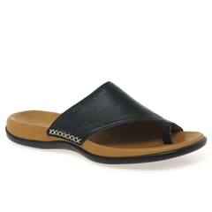 Gabor Lanzarote Leather Toe Posts - Black