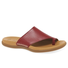 Gabor Lanzarote Leather Toe Posts - Red