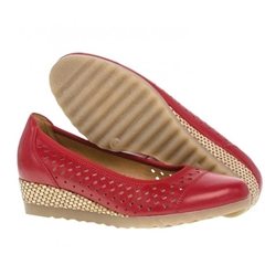 Gabor Evelyn Wide Fit Wedge - Red