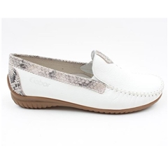 Gabor Leather Moccasins - White
