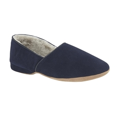 Draper Of Glastonbury Sheepskin Slipper  - Anton - Navy