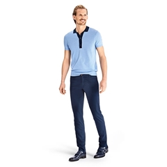 Meyer MMX Satin Cotton & Linen Jeans - Navy - Phoenix 7325 19