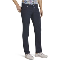 M5 By Meyer Slim Cotton Twill - Navy 6140 19