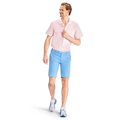 Meyer MMX Fine Twill Cotton Slim Fit Shorts  - Light Blue - Pegasus 7324 16