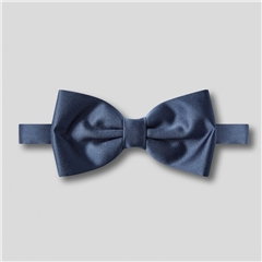 Classic Satin Ready Tied Bow Tie - French Navy
