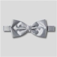 Classic Satin Ready Tied Bow Tie - Silver