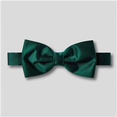 Classic Satin Ready Tied Bow Tie - Bottle Green