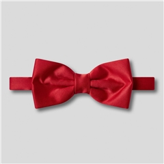Classic Satin Ready Tied Bow Tie - Scarlet Red