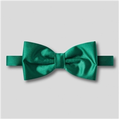 Classic Satin Ready Tied Bow Tie - Forest Green