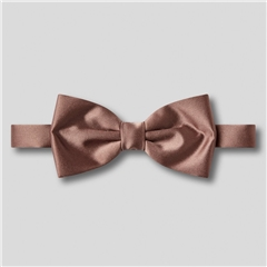 Classic Satin Ready Tied Bow Tie - Mid Brown