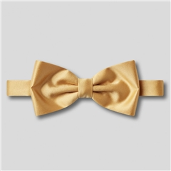 Classic Satin Ready Tied Bow Tie - Gold