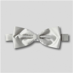 Classic Satin Ready Tied Bow Tie - Pearl