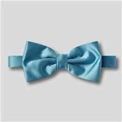 Classic Satin Ready Tied Bow Tie - Airforce