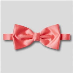 Classic Satin Ready Tied Bow Tie - Coral