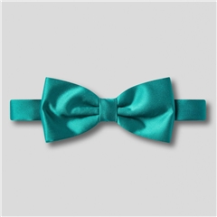 Classic Satin Ready Tied Bow Tie - Teal