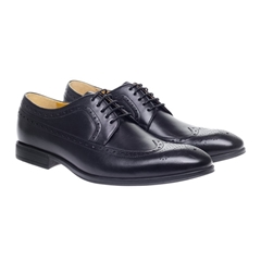 Steptronic Leather Brogue Shoes - Francis - Black