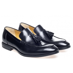 Steptronic Slip On Loafer Shoes - Fabrini - Black