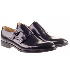 Steptronic Monk Shoes Twin Strap - Fresno - Black