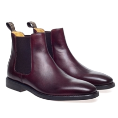 Steptronic Chelsea Boots - Mayfair - Reddish Brown Waxed
