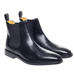 Steptronic Chelsea Boots - Mayfair - Black Waxed
