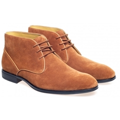 Steptronic Chukka Boots - Foster - Cognac Suede