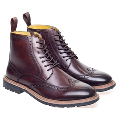 Steptronic Lace Up Boots - Liverpool - Dark Brown