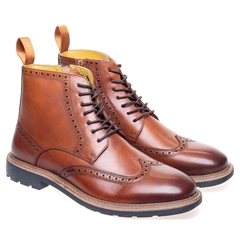 Steptronic Lace Up Boots - Liverpool - Cognac