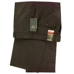 Club of Comfort Stretch Mid-weight Wool Mix Trouser - Dark Umber - Santos 2590 11