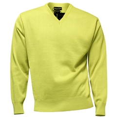 Franco Ponti Classic Vee Neck Sweater - Medium Weight - Lemon
