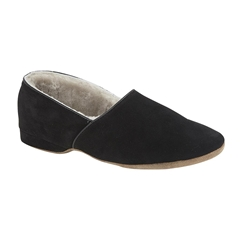 Draper Of Glastonbury Sheepskin Slipper  - Anton - Black