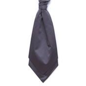 Men's Satin Wedding Cravat- Charcoal